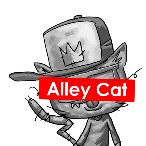 supreme alleycat sticker